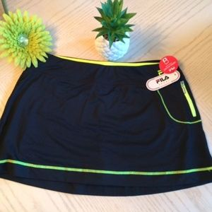 NWT Fila Sport Black Skort Size Large